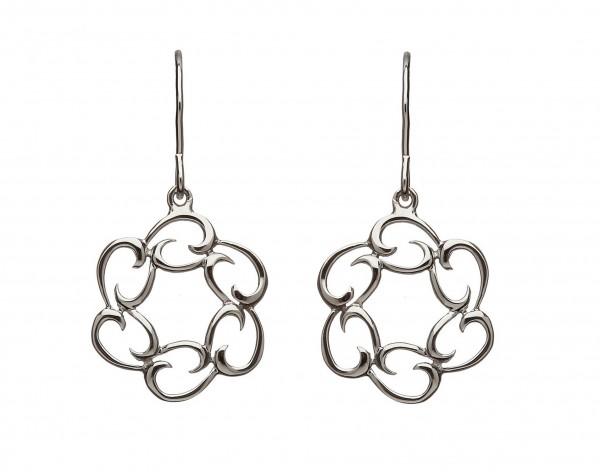 Irische Ohrringe Tropfen aus Silber
