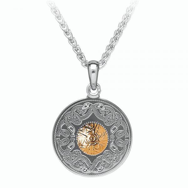 Kette Celtic Warrior Silber 18 Karat Gold