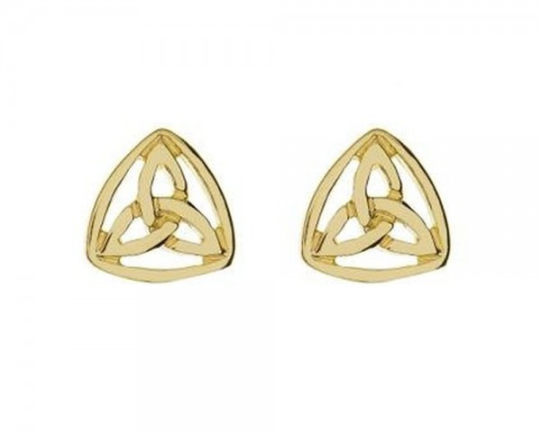 Ohrringe klein Trinity Knot Gold 416