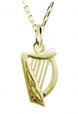 Irischer Anhänger Harfe Gold