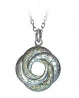 Silber 925 Kette keltischer Liebesknoten