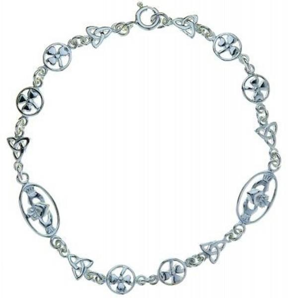 Armband Claddagh Trinity Knot Kleeblatt
