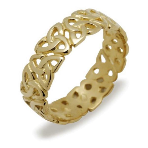Keltischer Damenring Gold Trauring, Ehering Gold