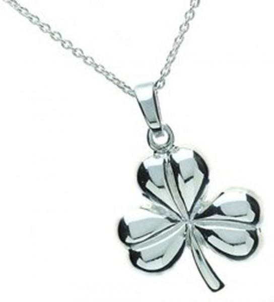 Irischer Anhänger Kleeblatt Silber