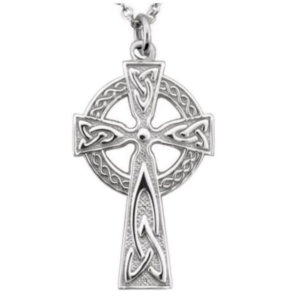 Irische Kette Hochkreuz Silber 925