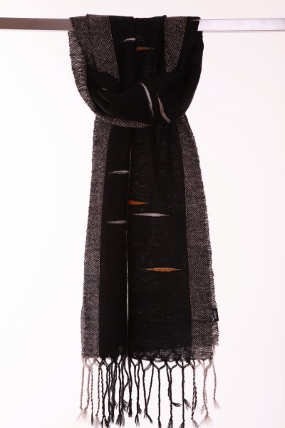 Stylish handgewebter Winterschal Mohair