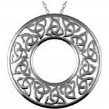 Irische Kette rund Trinity Knot aus Silber 925