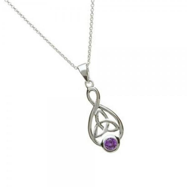 Irischer Anhänger Silber 925 Oval Trinity Knot