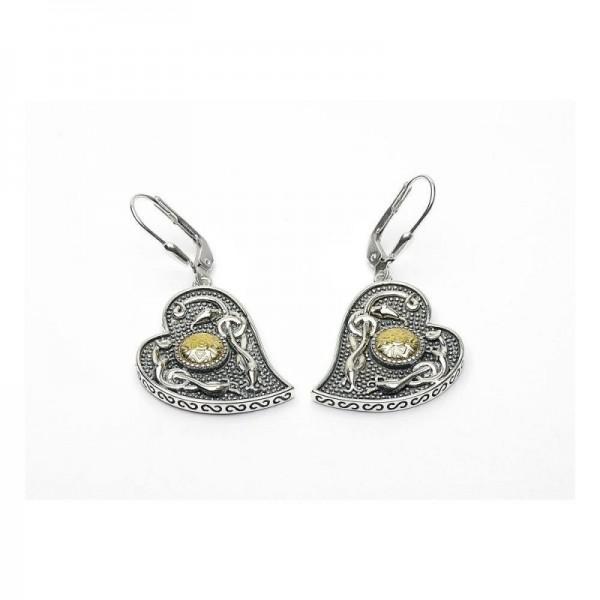 Ohrringe Silber und Gold Wood Quay Kollektion
