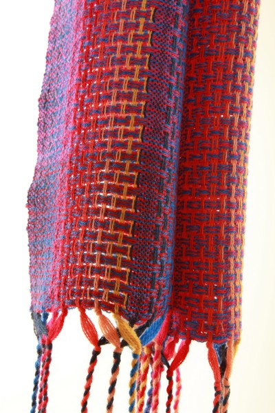 Handgewebter Schal RAINBOW aus Alpaka Wolle