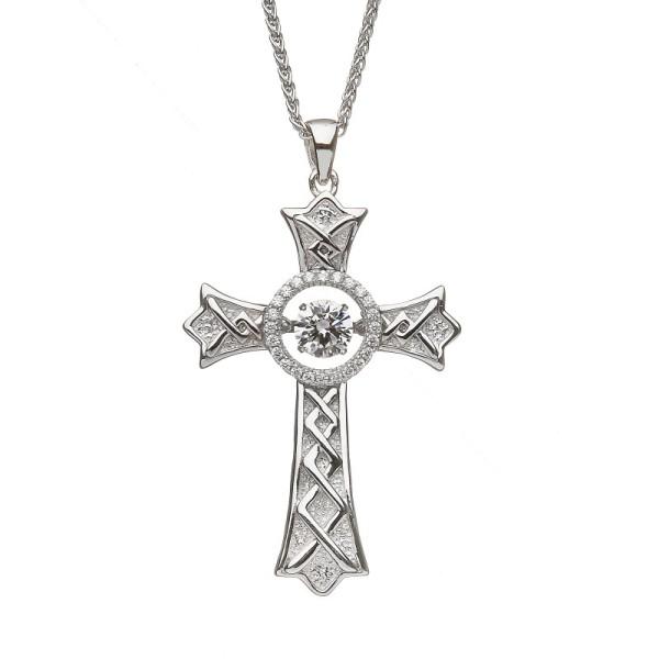 Damhsa Keltisches Kreuz mit Zirkonia
