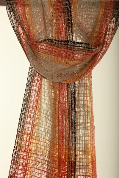 Handgewebter Schal Striped Scarf Leinen Baumwolle