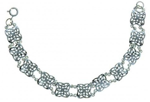 Irisches Armband Trinity Knot Silber 925