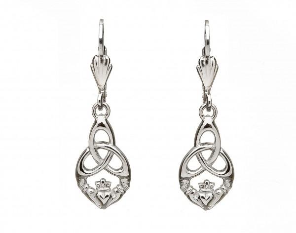 Irische Ohrringe Claddagh / Trinity Knot Silber