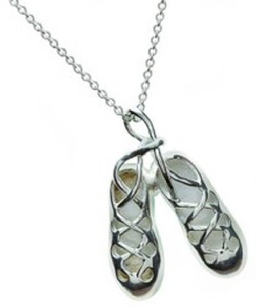Keltischer Anhänger irische Tanzschuhe Silber
