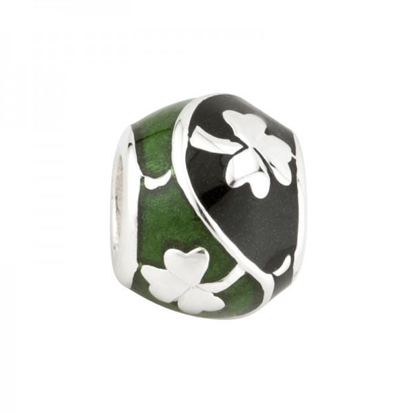 Celtic Bead grün und schwarz Silber