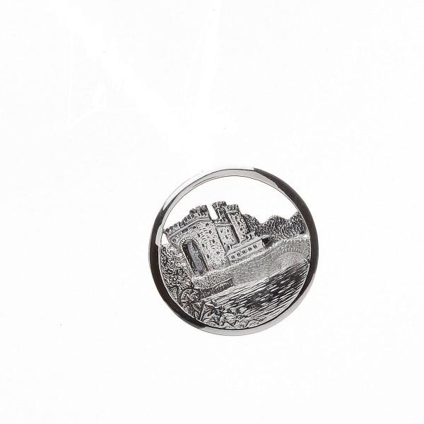 Keltische Brosche Irische Burg aus Silber 925