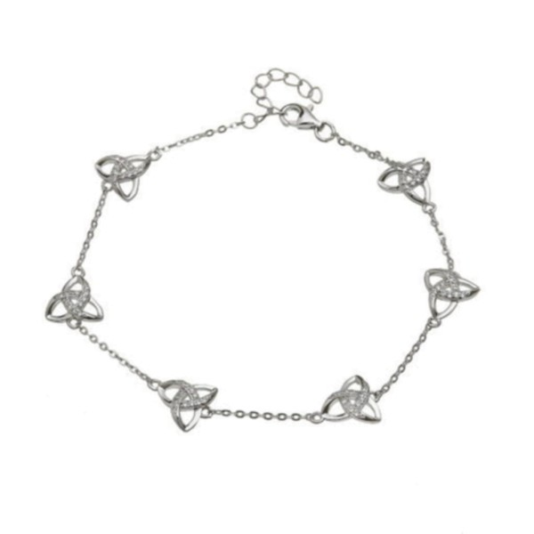 Keltisches Armband Silber 925 Trinity Knot