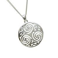 Keltische Kette Silber rund
