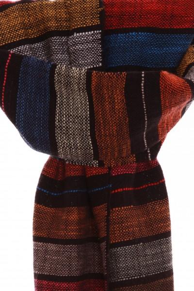 Handgewebter Schal Piano aus Leinen und Baumwolle