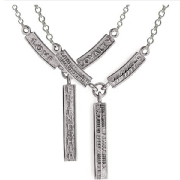 Irische Kette mit Ogham Inschrift Silber 925