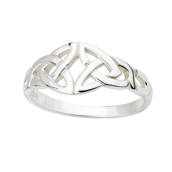 Silber 925 Keltischer Ring Trinity knot