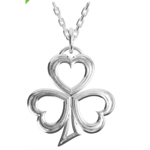 Irische Kette Kleeblatt aus Silber 925