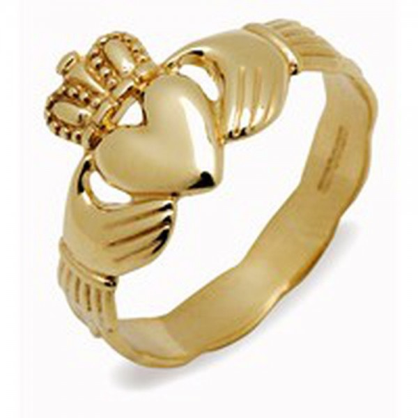 Irischer Schmuck Damen Claddagh Ring Gold 585