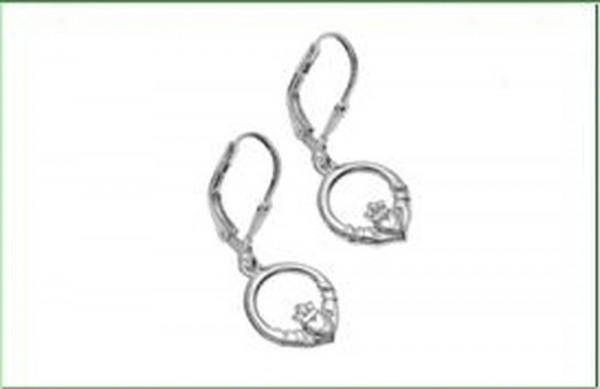 Keltische Claddagh Ohrringe aus Silber 925