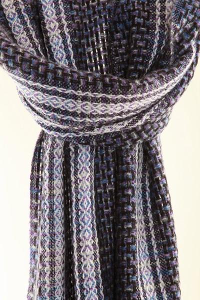 Handgewebter Schal  Winter Tiles