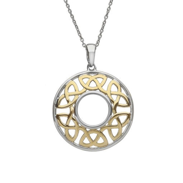 Runder keltischer Anhänger aus Silber 925 vergoldet