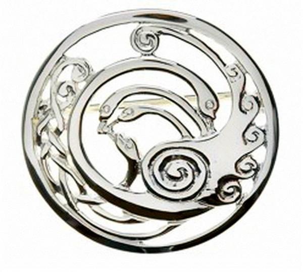 Keltische Brosche Children of Lir Kollektion aus Silber 925 groß