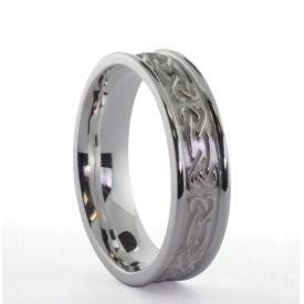 Irischer Damenring Silber keltisches Band mit keltischen Knoten