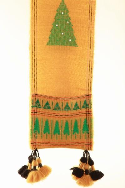 Handgewebter Schal Weihnachtsschal