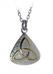 Irische Kette Trinity Knot  aus Silber und Gold 925