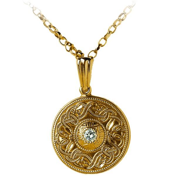 Irische Kette Keltischer Krieger Gold Celtic Warrior