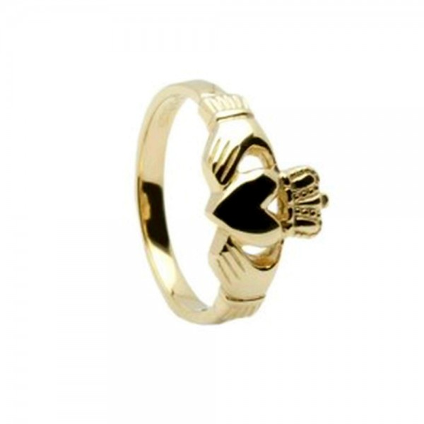 Irischer Claddaghring in 10 Karat Gold 416