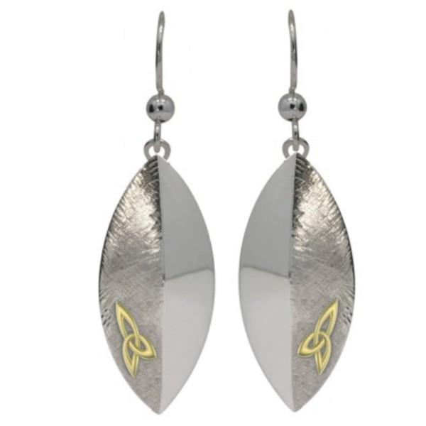Irischer Schmuck Keltische Ohrringe Trinity knot in Sterling Silber