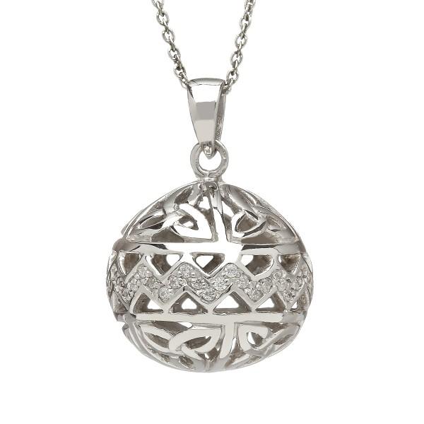Keltische Kette Silber groß