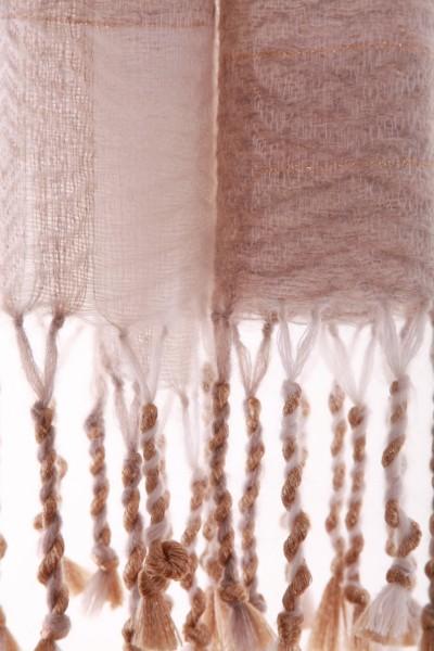 Golden Sand handgewebter WInterschal Iskon Mode