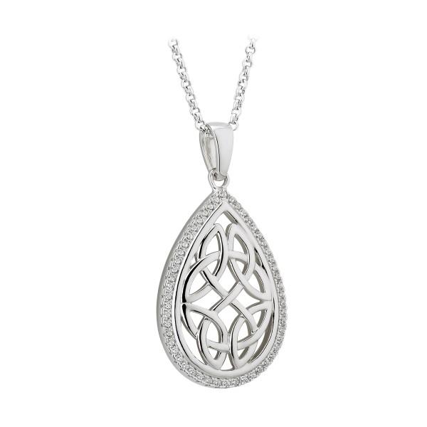 Silber 925 Kette keltische Knoten oval