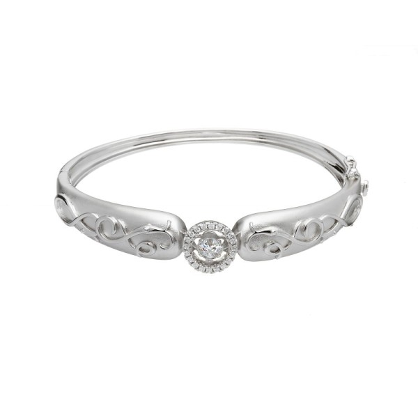 Damhsa Woodquay Bangle mit Tanzen CZ
