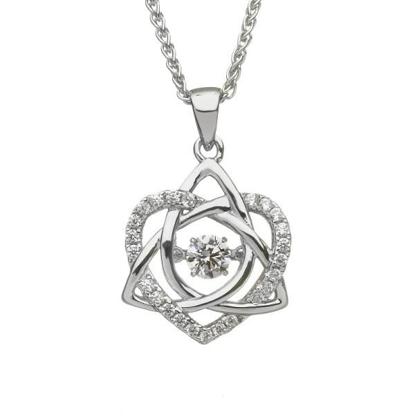 Damhsa Kollektion Trinity & Herz Anhänger Silber 925 mit Zirkonia