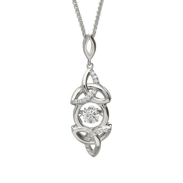 Damhsa Kollektion Trinity Knot Anhänger Silber 925 mit Zirkonia