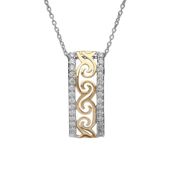 Anhänger keltische Spirale aus Silber 925 vergoldet
