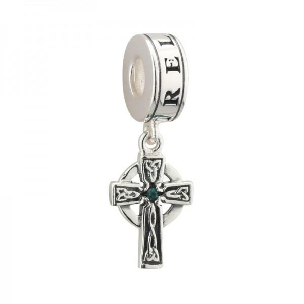 Celtic Bead Keltisches Kreuz mit Kristallen Silber