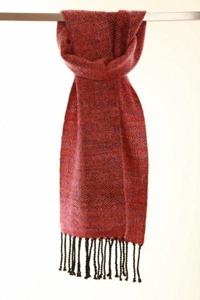 Handgewebter Schal Diamond Mohair und Wolle