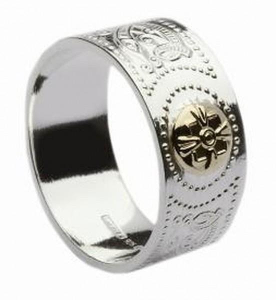 Celtic Warrio Ring Keltischer Kriegerring Sikber und Gold