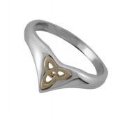 Keltischer Ring Trinity Knot Silber und Gold