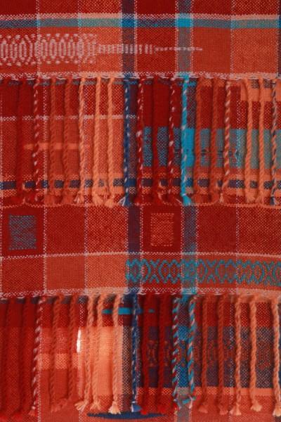 Handgewebter Schal Vivid Orange Mohair Wolle